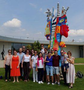 Participants visiting Danubiana in Bratislava